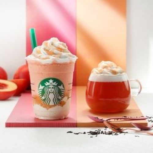 スタバ秋の新作【10/3〜】紅茶ベースの贅沢《桃フラペチーノ》登場!のサムネイル画像