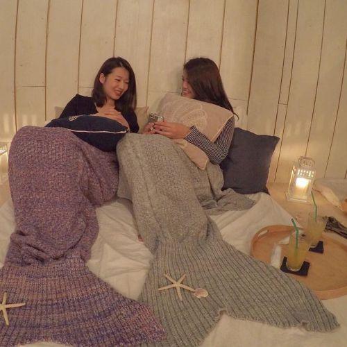 寒い冬でも憧れの人魚姫になれる♡【マーメイドブランケット】のサムネイル画像