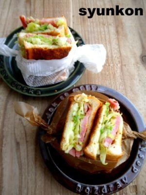 ボリューミーでおしゃれなホットサンドで、脱マンネリお弁当のサムネイル画像