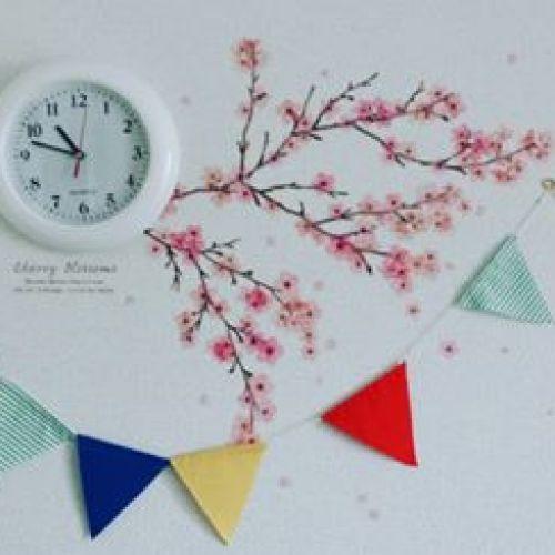 お部屋にも満開の桜を♡《100均で手に入る》桜ウォールステッカーがおしゃれ♪のサムネイル画像